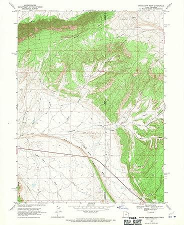 Amazon.com: Utah Maps - 1968 Snake John Reef, UT USGS ...