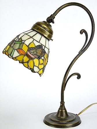 Lampada ottone brunito da tavolo,scrivania,lampade stile liberty ...