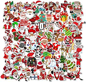 100PCS Christmas Graffiti Stickers Pack, Cartoon Stickers, Christmas Stickers, Waterproof Decals Vinyls for Phone, Laptop, Cars, Motorcycle, Bicycle, Skateboard, Suitcase, Water Bottle, Guitar