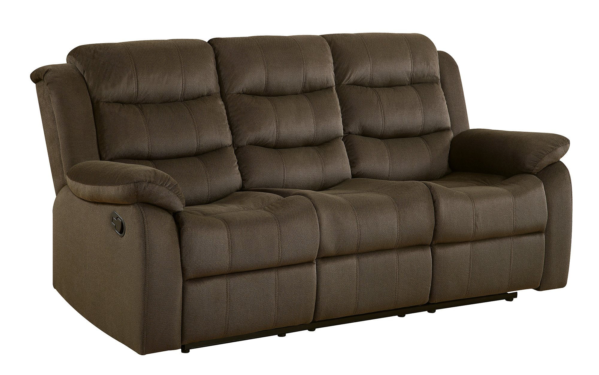 Coaster Home Furnishings 601881 Two-Tone Rodman Motion Collection Motion Sofa, Chocolate