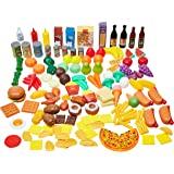Amazon Basics Kid's Pretend Toy Play Food Set - 150-Piece, Ages 3+
