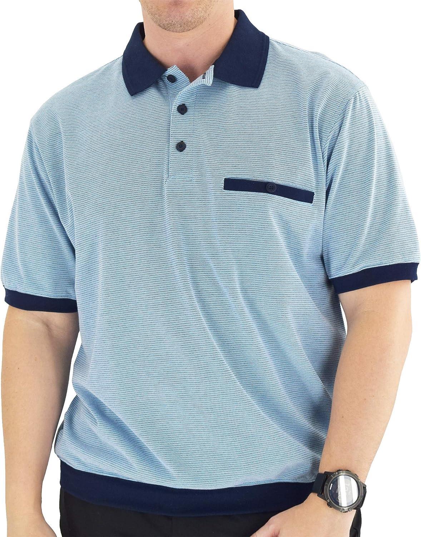 Mens Vintage Shirts – Casual, Dress, T-shirts, Polos Big and Tall Classics by Palmland Short Sleeve Banded Bottom Polo Shirt White - 6191-415BT White - Big and Tall $37.99 AT vintagedancer.com