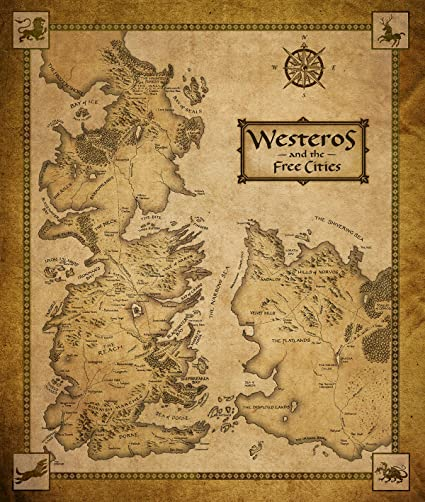 photo regarding Printable Map of Westeros called Recreation of Thrones Map of Westeros and The Cost-free Metropolitan areas Poster Artwork Print S 17x14\