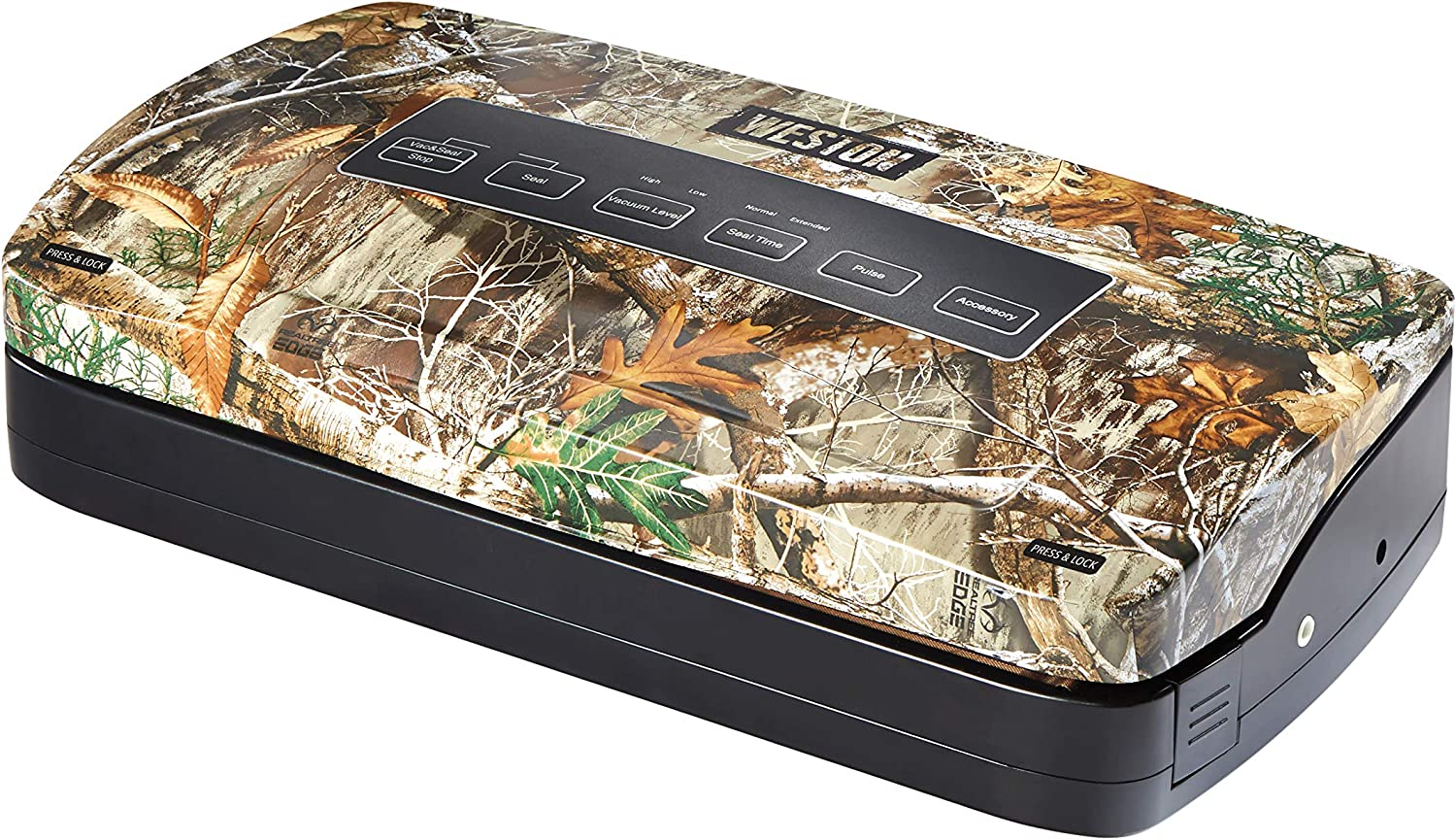 Weston 65-3001-RE Realtree Edge Vacuum Sealer with Roll Storage and Bag Cutter, Black (65-3001-R)