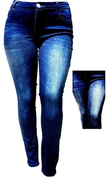 Amazon.com: 1826 Womens Plus Size Distressed Ripped destruir ...