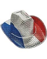 Fun Express FX IN-15/432-1 Patriotic Sequin Cowboy Hat