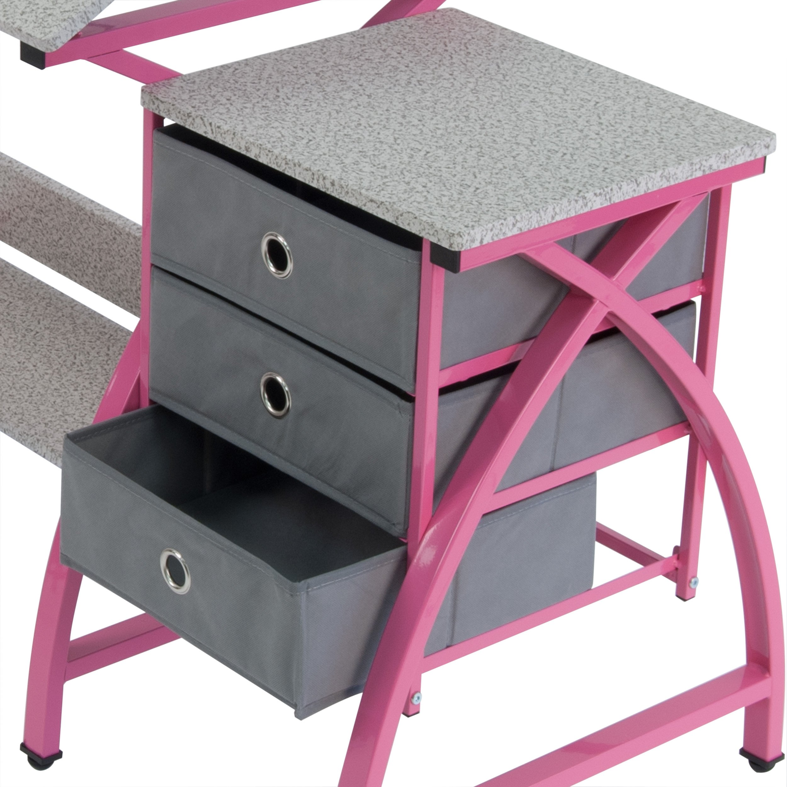 Comet Center with Stool in Pink / Spatter Gray by SD Studio Designs (Image #4)