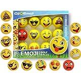 Oji-Emoji Premium Emoji Golf Balls, Unique Professional Practice Golf Balls, 12-Pack Emoji Golfer Novelty Golf Gift for…