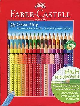 Faber-Castell 112442 - Estuche de cartón con 36 ecolápices Grip de colores, multicolor