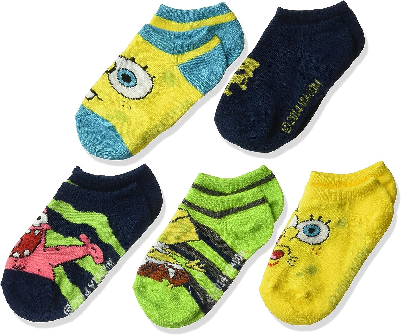 Ages 3-6 Years Green SpongeBob SquarePants Children/'s Sock Set Size 6-8