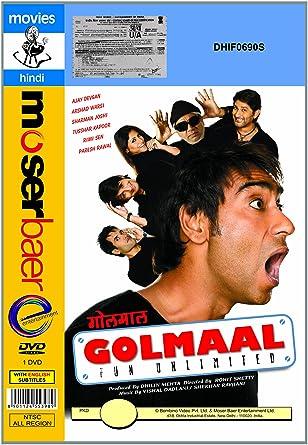 Amazon.com: Golmaal-Fun Unlimited (Brand New Single Disc Dvd ...