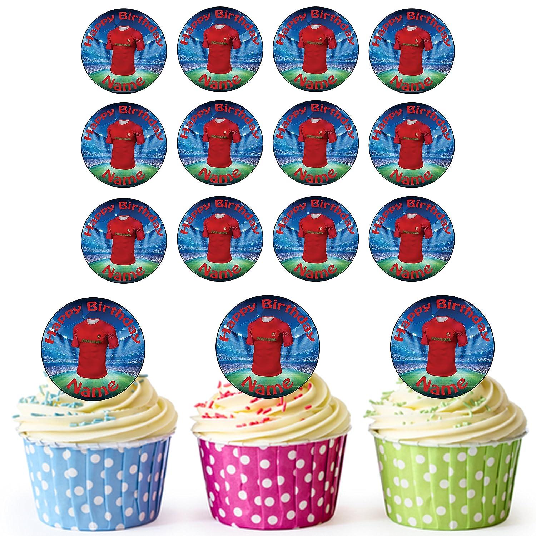 Portugal fútbol camisas 24 personalizado comestible cupcake ...