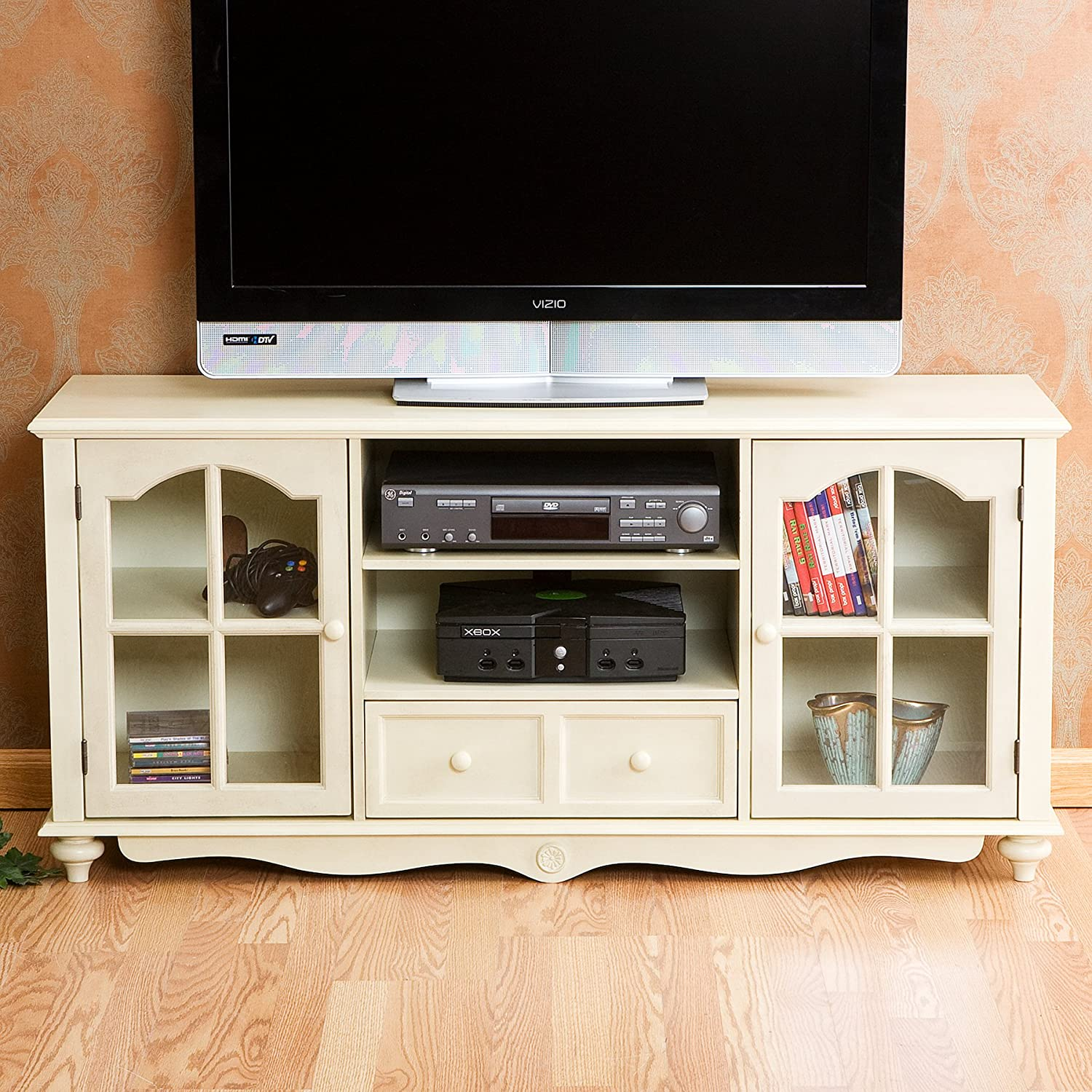 Amazon.com: Coventry Large TV Console - Antique White: Kitchen & Dining - Amazon.com: Coventry Large TV Console - Antique White: Kitchen