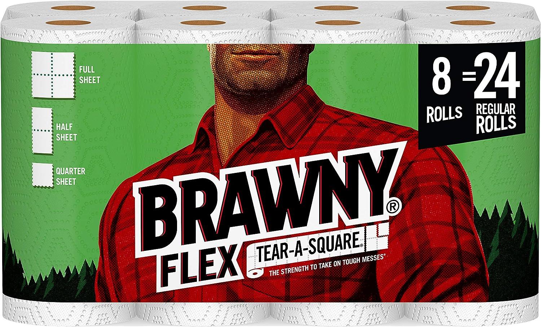 Brawny Brawny Flex Paper Towels, 8 Triple Rolls, 8 Count