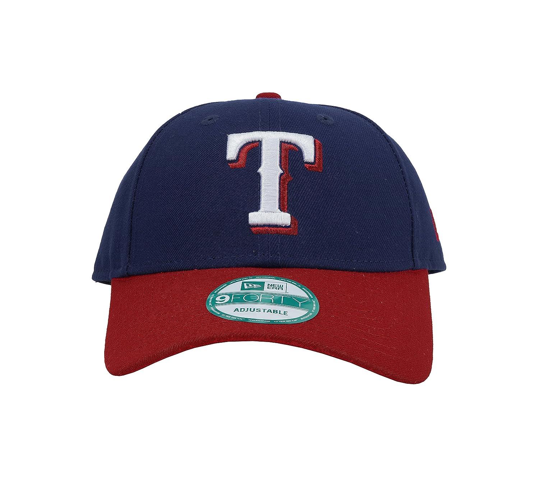 buy popular 0594e b4256 Royal 11273417 One Size New Era MLB Texas Rangers The League 2Tone 9FORTY  Adjustable Cap