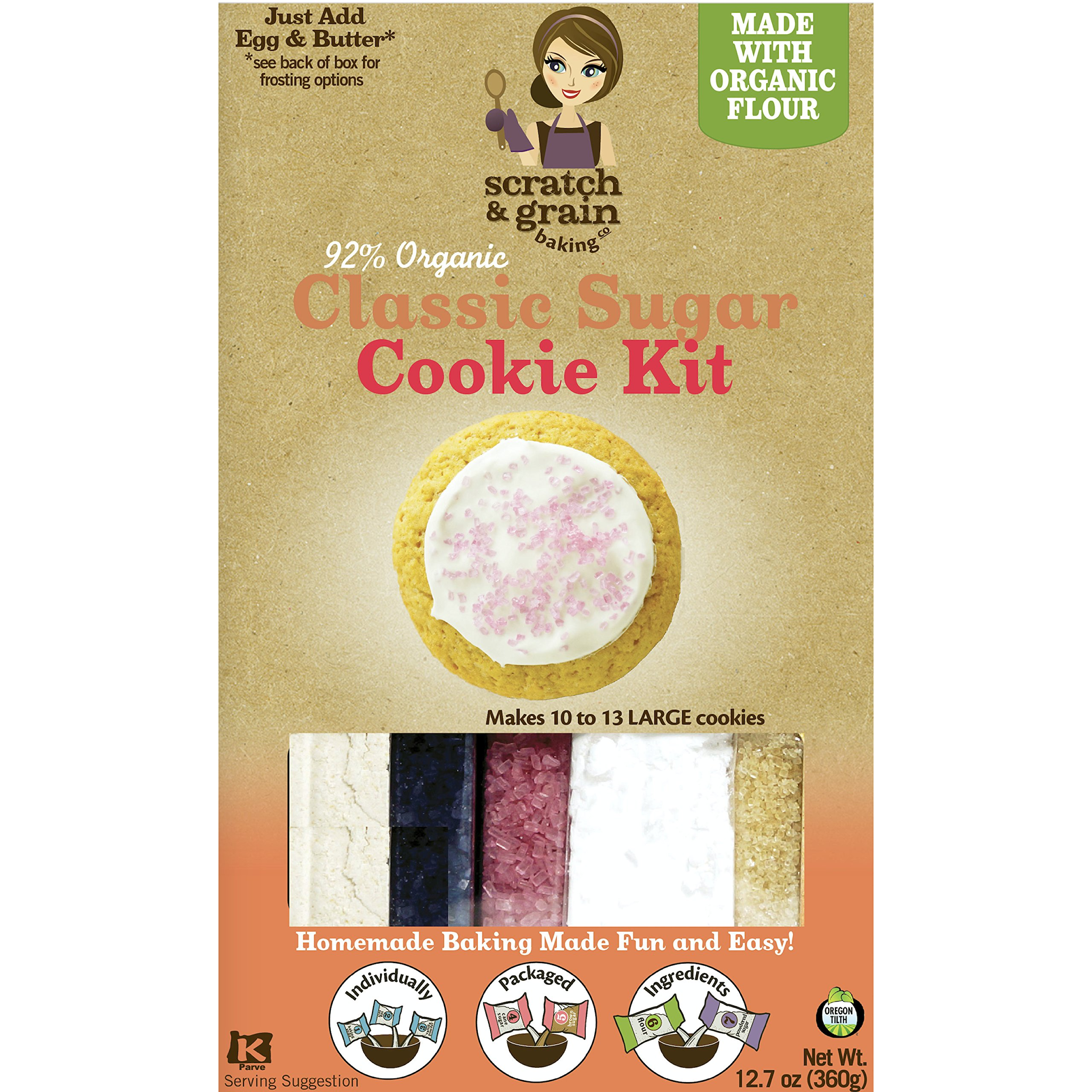 Scratch & Grain Baking All Natural Classic Sugar Cookie Kit