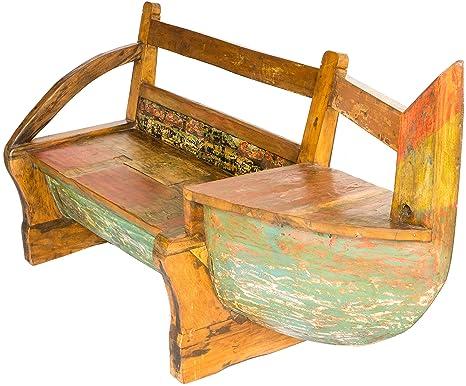 Sella divano angolo di seduta in barca vecchio scafo panche e
