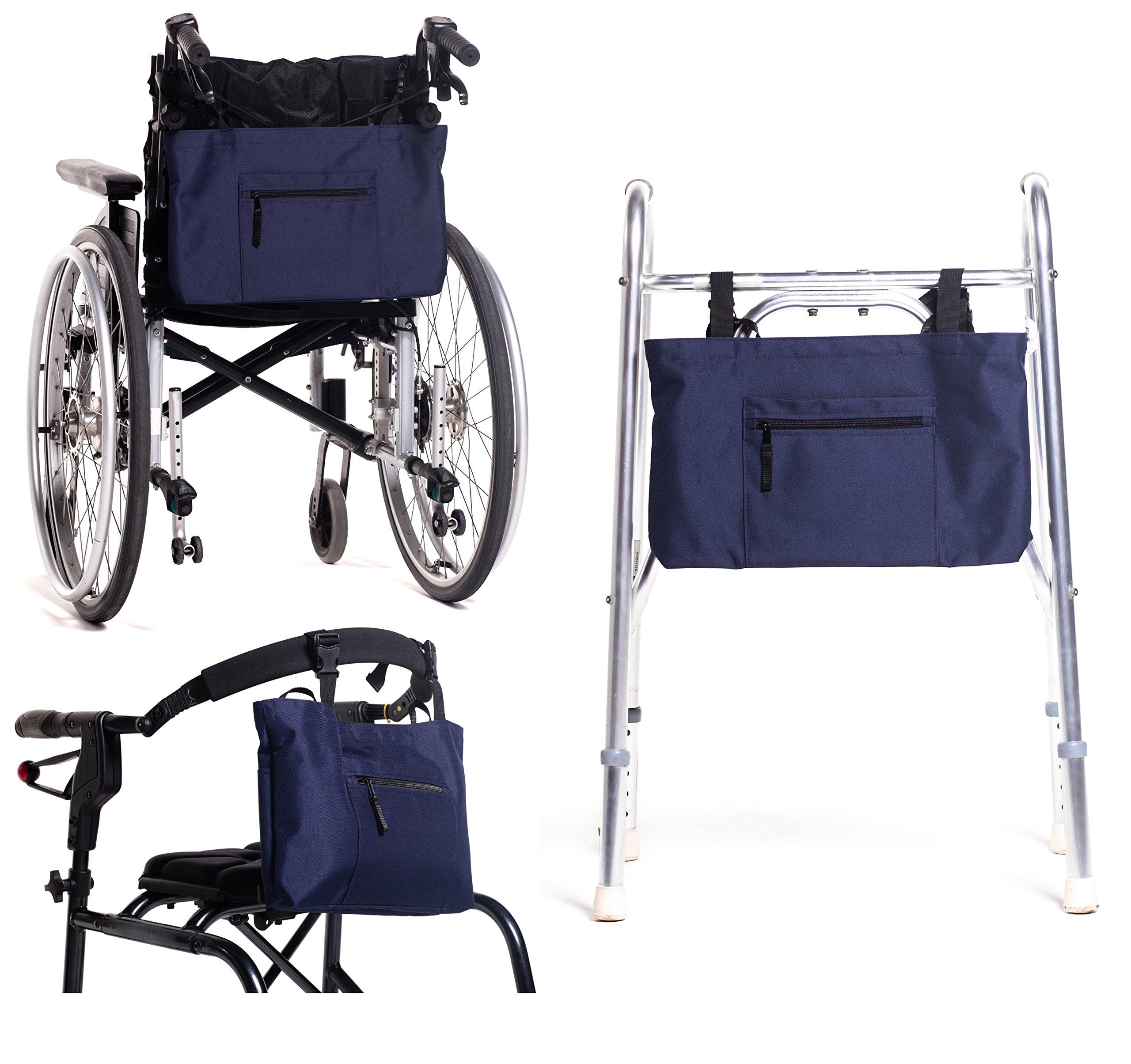 Walker Bag - Walker Tote Bag - Water-Resistant Walker Pouch - Universal Fit for Walkers, Scooters Or Rollator Walkers