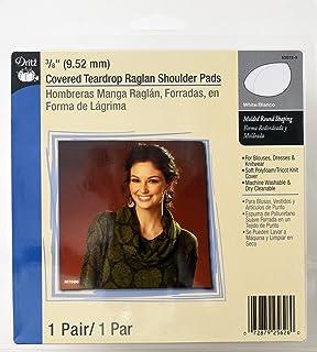 Dritz 53072-9 Shoulder Pads, Covered Teardrop Raglan 3/8-Inch White