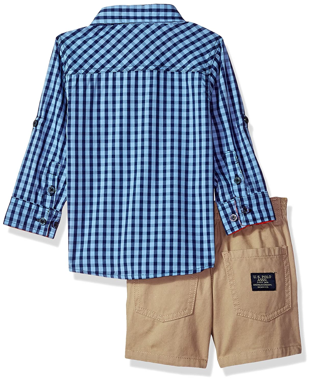 T-Shirt and Short Set Polo Assn U.S Boys Long Sleeve Woven