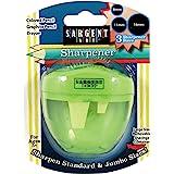 Sargent Art 3 Hole Pencil Sharpener, Jumbo, Green