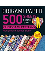 """Origami Paper 500 Sheets Japanese Chiyogami Designs 6"""" 15cm: Tuttle Origami Paper: High-Quality Origami Sheets Printed with 12 Different Designs: Instructions for 8 Projects Included"""