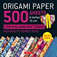 Origami Paper 500 Sheets Chiyogami Patterns 6 15cm: Tuttle Origami Paper: Double-Sided Origami Sheets Printed with 12 Differe