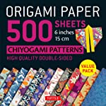 """Origami Paper 500 sheets Chiyogami Patterns 6"""" 15cm: Tuttle Origami Paper: High-Quality Double-Sided Origami Sheets..."""