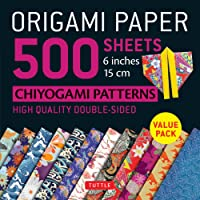 "Origami Paper 500 Sheets Japanese Chiyogami Designs 6"" 15cm: Tuttle Origami Paper: High-Quality Origami Sheets Printed with 12 Different Designs: Instructions for 8 Projects Included"
