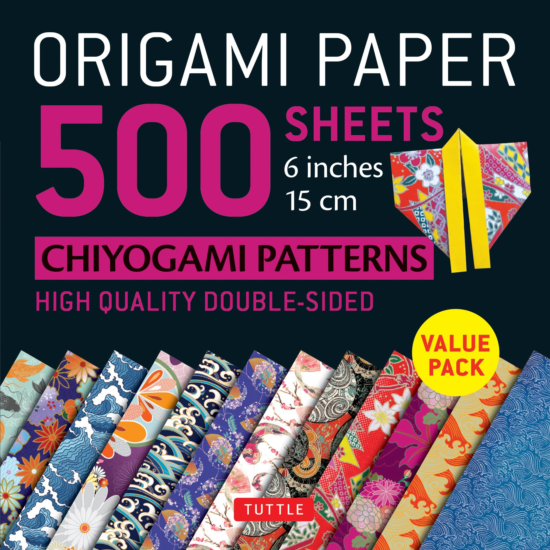 Watercolor 20 sheets of Origami Paper 6 Square Washi Chiyogami Designs of Birds