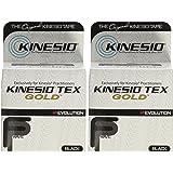 """Kinesio® Tex GoldTM Tape TWO Rolls 2"""" x 16.4' Black"""