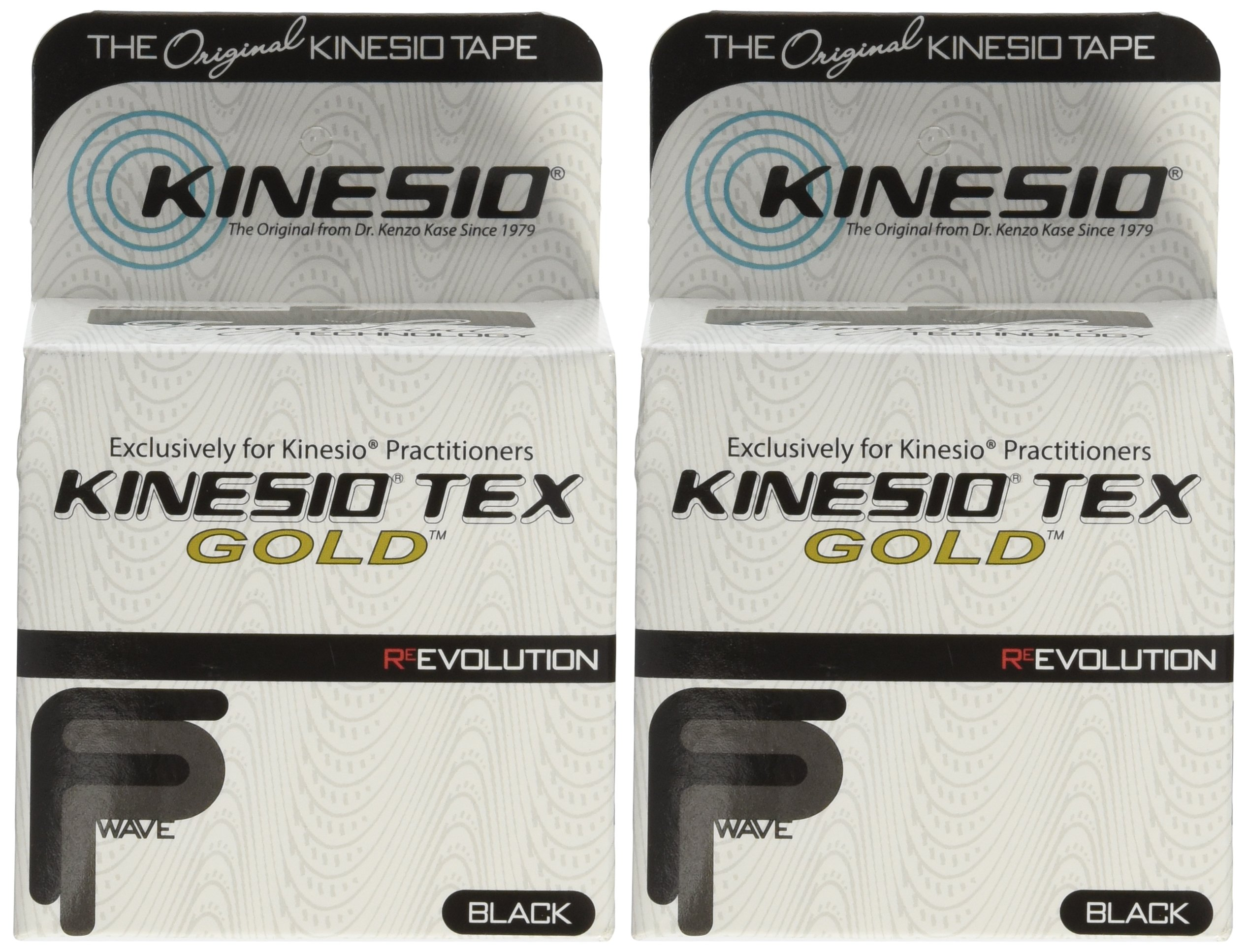 Kinesio Tex Gold FP Tape TWO Rolls 2'' x 16.4' Black