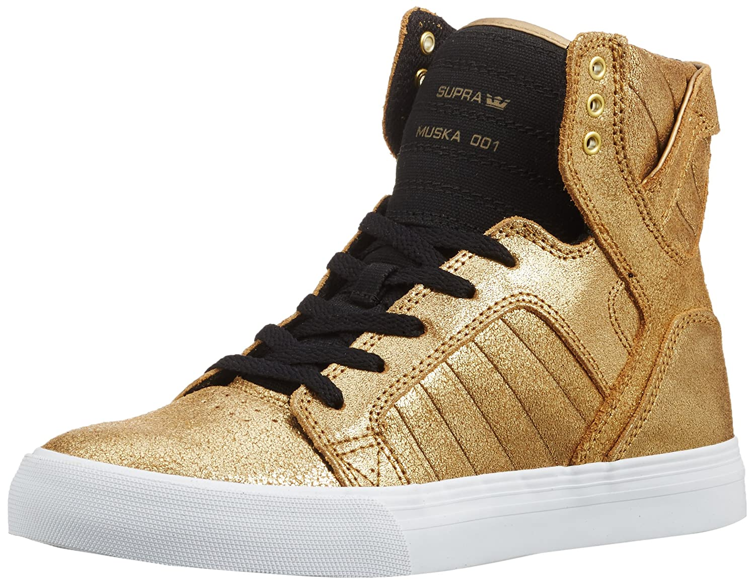 best cheap 476f2 707a7 Supra Children (Youths) Skytop Gold Black White Skate Shoes  Amazon.ca   Shoes   Handbags
