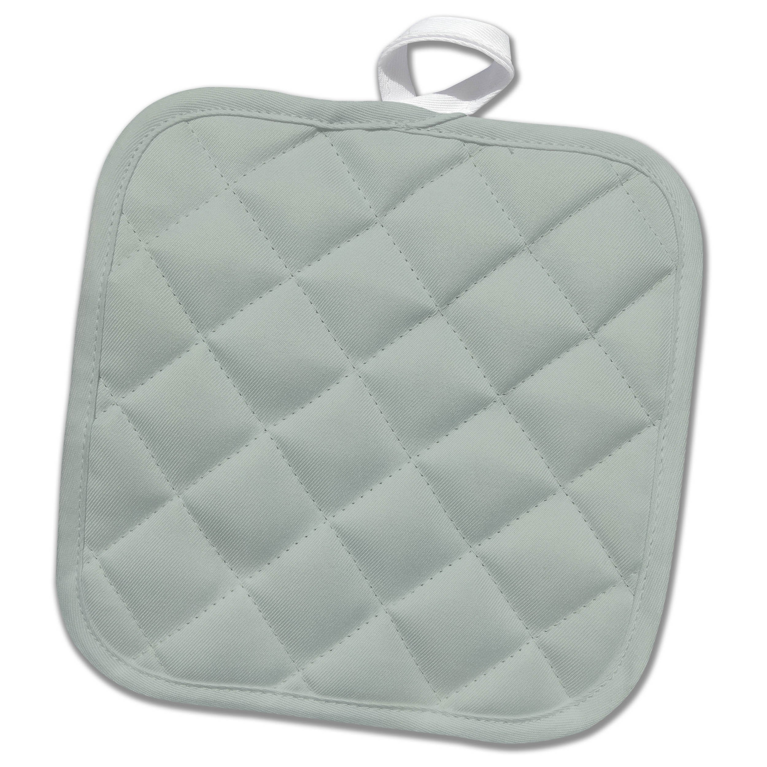 3dRose Spring and Summer 2018 Colors - Image of Cool Tone of Grayish Green - 8x8 Potholder (phl_280019_1)