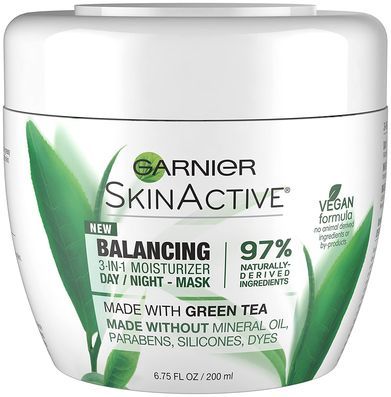 Garnier SkinActive 3-in-1 Face Moisturizer with Green Tea, Oily Skin,6.75 fl. oz.
