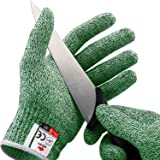 NoCry Cut Resistant Gloves - High Performance Level 5 Protection, Food Grade. Green, Size Extra Large