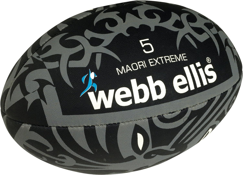 ウェッブエリスメンズマオリエクストリームボール - ブラック/グレー、サイズ5