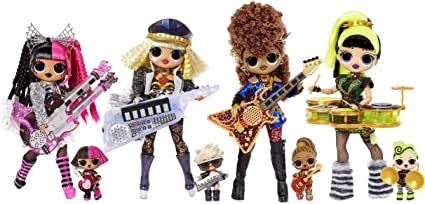 Amazon Com Lol Surprise Omg Remix Super Surprise With 70 Surprises Plays Music 4 Fashion Dolls And 4 Dolls Sisters Rock Instruments Boom Box Packaging And Rock Band Accessories Ages 4 Toys Games