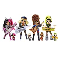 LOL Surprise OMG Remix Super Surprise with 70+ Surprises, Plays Music, 4 Fashion Dolls And 4 Dolls (Sisters), Rock Instruments, Boom Box Packaging, And Rock Band Accessories | Ages 4+
