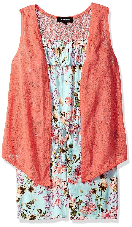 b19fbcaa5c6c Amazon.com  Amy Byer Girls  Big 2fer Romper with Vest  Clothing