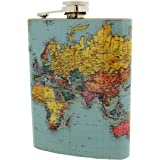Hip Flask - World Traveller
