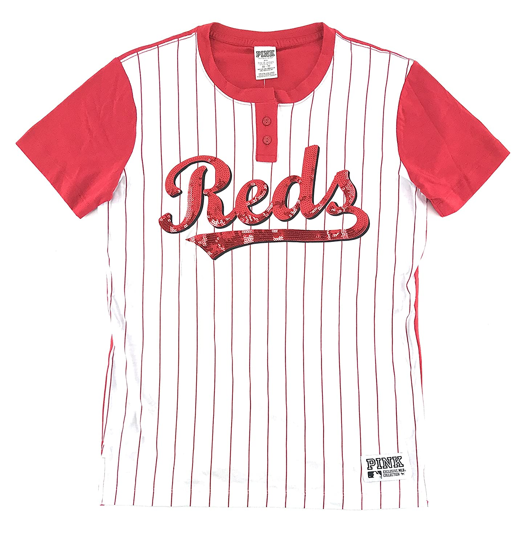 864a8a52e8bdd Victoria's Secret Pink Cincinnati Reds Bling T-Shirt White