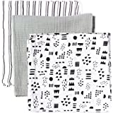 HonestBaby Baby 3-Pack Organic Cotton Swaddle Blankets
