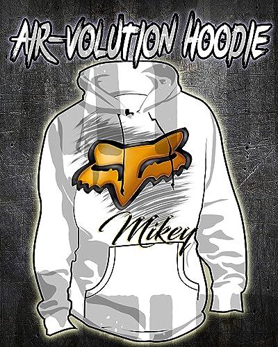 Amazon Com Personalized Airbrushed Fox Hoodie Sweatshirt Handmade