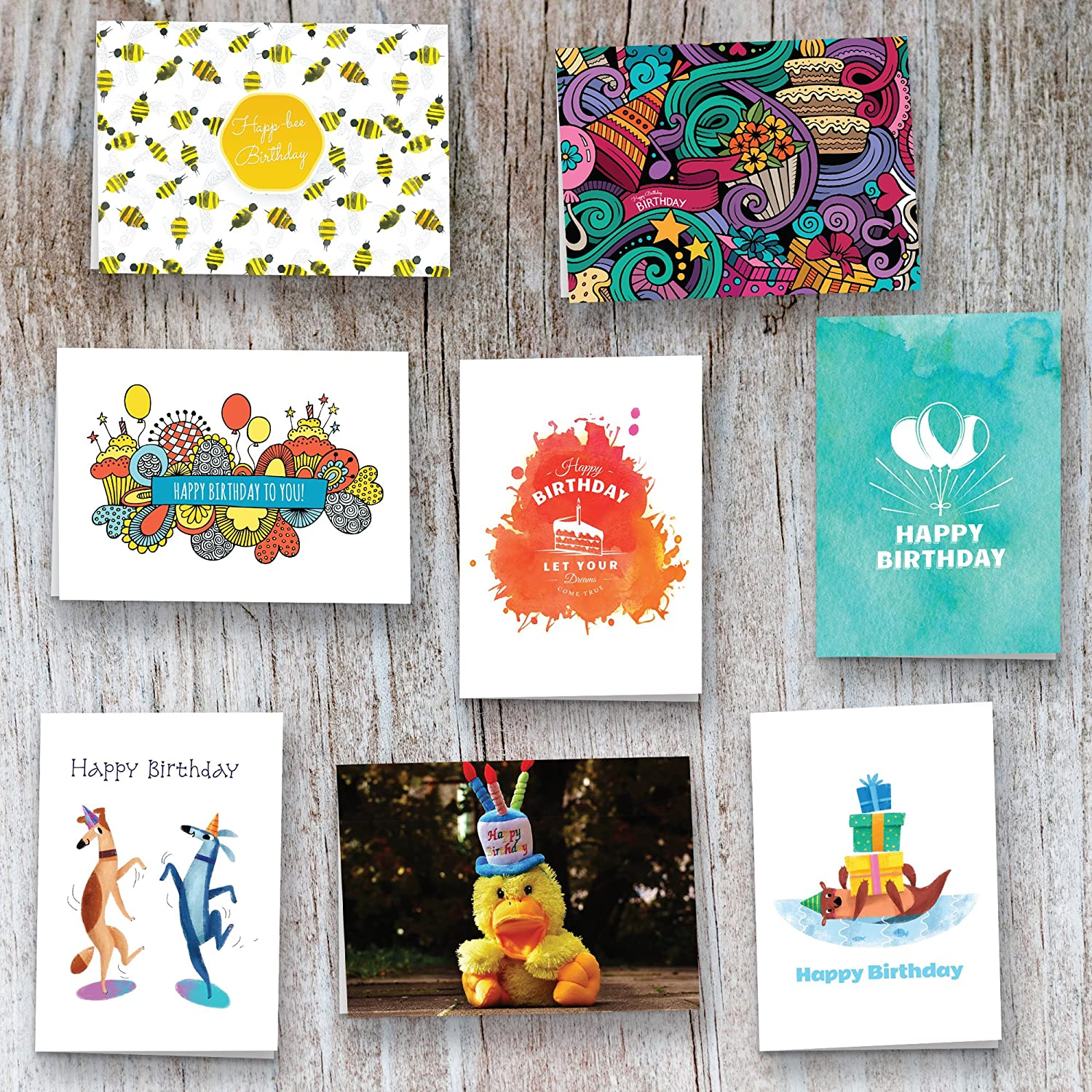 40 Birthday Cards Assortment Happy Card Bulk Box Sets For Women And Men