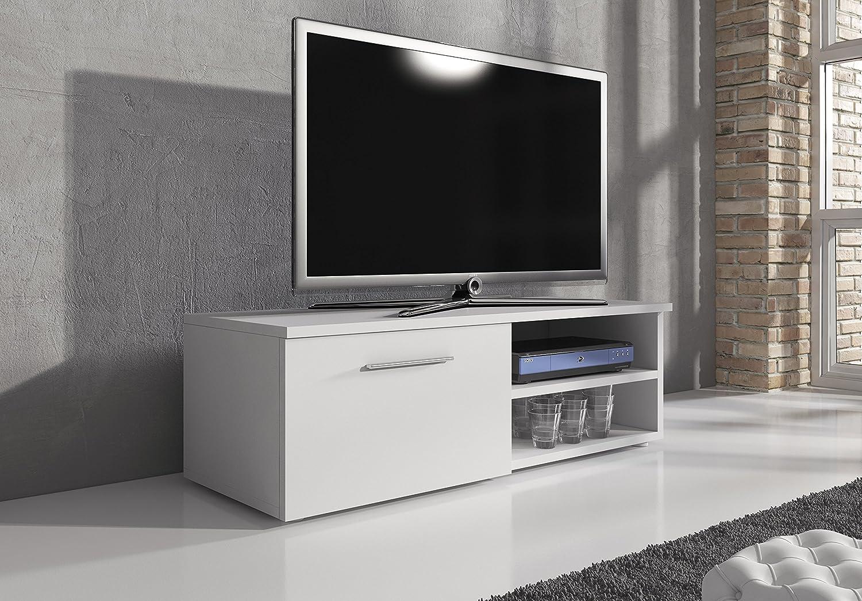 Tv schrank weiß hochglanz 120  TV Möbel Lowboard TV-Element TV Schrank TV-Ständer Entertainment ...