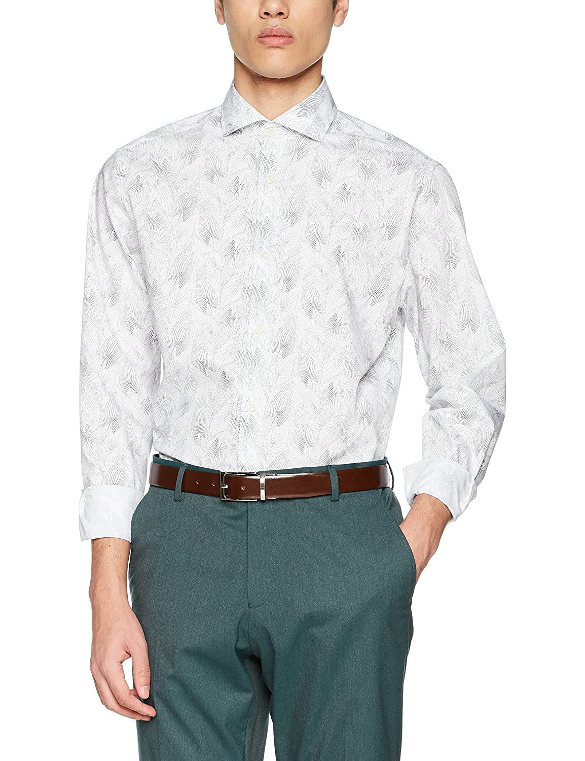 TALLA XL. SELECTED HOMME Shdtwosel-Wave Shirt LS AOP STS Camisa para Hombre