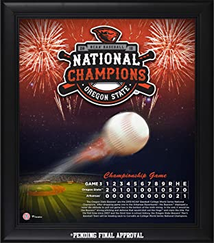 """5d303e93 Image Unavailable. Image not available for. Color: Oregon State Beavers  Framed 15"""" x 17"""" 2018 NCAA Baseball College World Series National"""