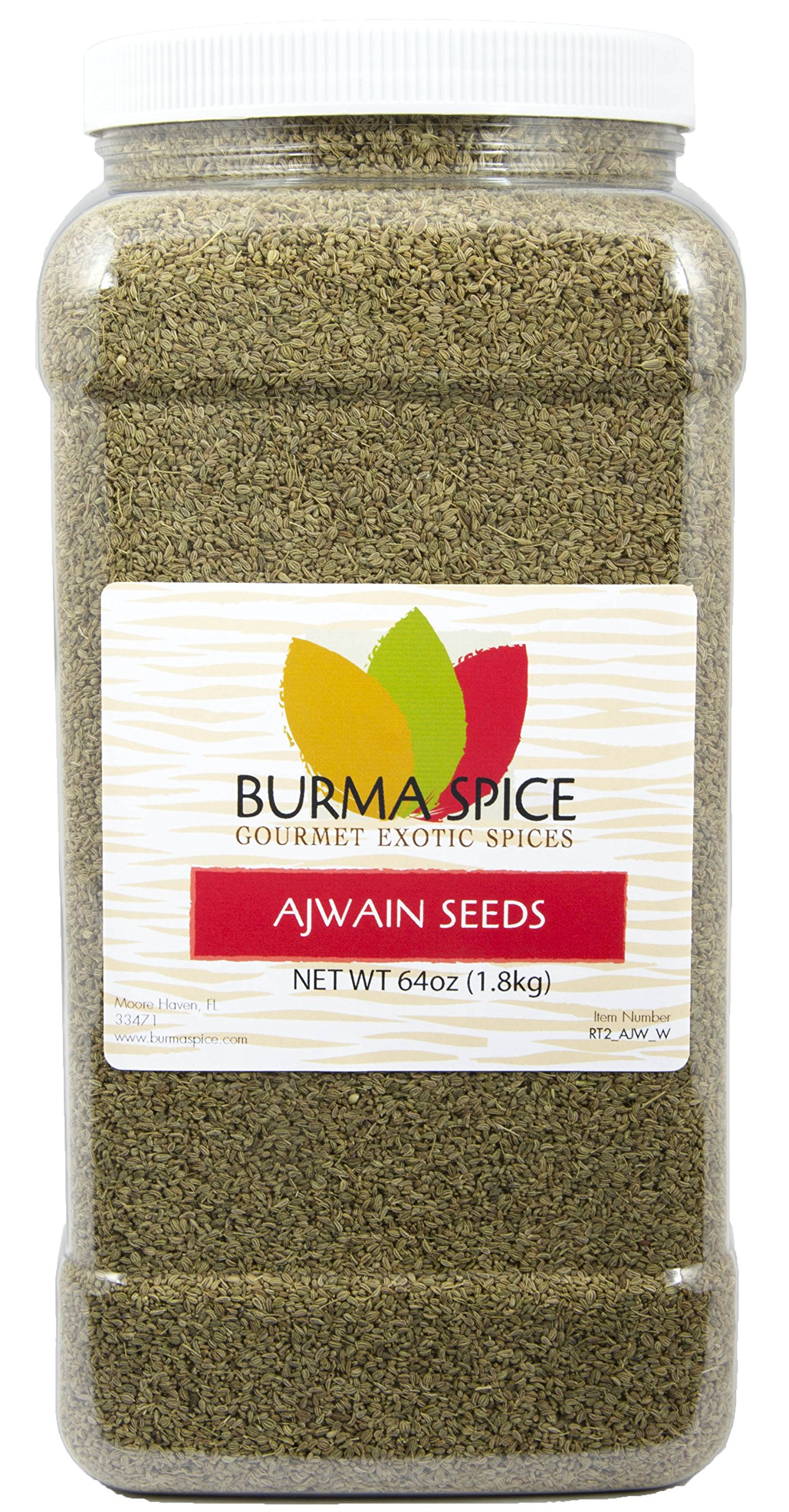 Ajwain Seeds : Whole Indian Spice Kosher (64oz.) by Burma Spice (Image #1)