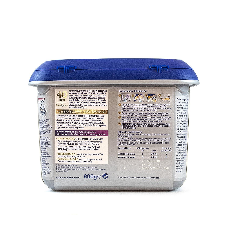 Almirón Profutura 2 Leche de continuación en polvo desde los 6 meses- 800 g: Amazon.es: Alimentación y bebidas
